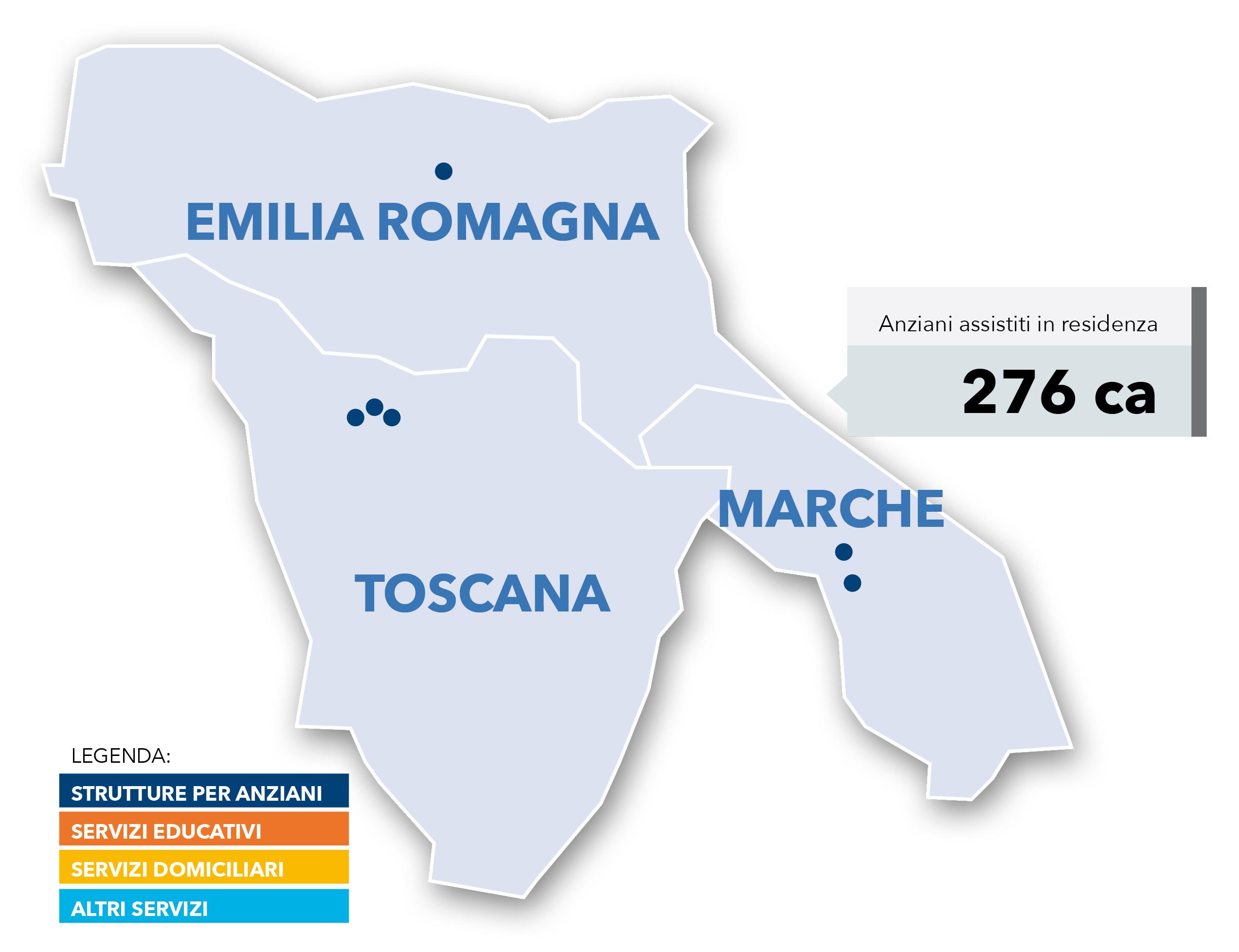 Punto Service servizi gestiti Toscana Emilia e Marche